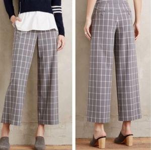 Anthropologie | Cartonnier Plaid Cropped Pants